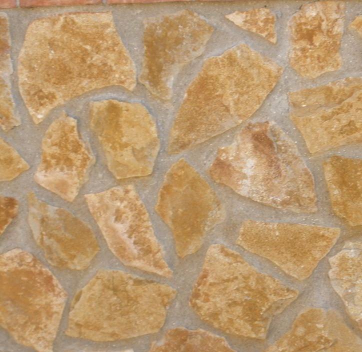 Piedra r stica amarilla creactinnova - Limpiar piedra natural exterior ...